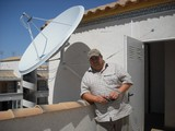 This is a 1.9 satellite dish installed in La Zenia and shared between 4 apartments